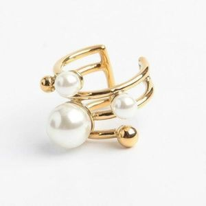 Kate Spade Bits & Baubles Pearl Statement Ring 7